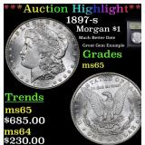 ***Auction Highlight*** 1897-s Morgan Dollar $1 Gr