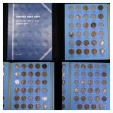 Partial Lincoln cent book 1909-1940,65coins . .