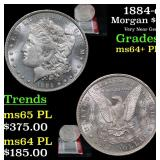 1884-o Morgan Dollar $1 Grades Choice Unc+ PL