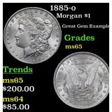 1885-o Morgan Dollar $1 Grades GEM Unc