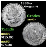 1888-o Morgan Dollar $1 Grades Select+ Unc
