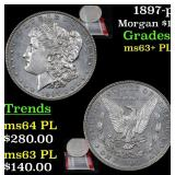 1897-p Morgan Dollar $1 Grades Select Unc+ PL