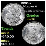1890-s Morgan Dollar $1 Grades Select+ Unc