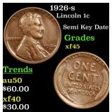 1926-s Lincoln Cent 1c Grades xf+