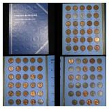 Partial Lincoln cent book 1941-1976 67 coins . .
