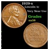 1929-s Lincoln Cent 1c Grades Choice AU/BU Slider