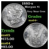 1880-s Morgan Dollar $1 Grades Choice+ Unc