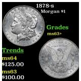 1878-s Morgan Dollar $1 Grades Select+ Unc