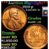 ***Auction Highlight*** 1919-p Lincoln Cent 1c Gra