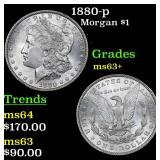 1880-p Morgan Dollar $1 Grades Select+ Unc