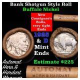 Buffalo Nickel Shotgun Roll in Old Bank Style