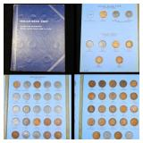 Partial Indian cent book 1857-1909 37 coins
