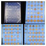Partial Lincoln Cent Book 1910-1940 67 coins