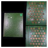Near Complete Lincoln Cent Book 1940-1972 76 coins