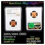 *Highlight* 1995/1995 DDO Lincoln 1c Graded ms68 r