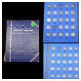 Near Complete Mercury Dime Book 1916-1936 47 coins
