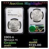 *Highlight* 1901-o Morgan $1 Graded ms65