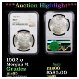 *Highlight* 1902-o Morgan $1 Graded ms65