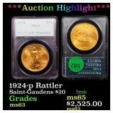 *Highlight* 1924-p Rattler Saint-Gaudens $20 Grade