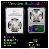 *Highlight* 1880-s Morgan $1 Graded ms66