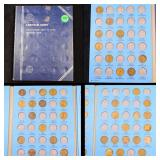Partial Lincoln Cent Book 1909-1940 39 coins