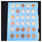 Partial Lincoln Cent page 1909-1918 14 coins