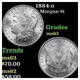 1884-o Morgan $1 Grades Select Unc