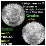 1886-p vam 6a R5 Morgan $1 Grades Choice+ Unc