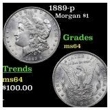 1889-p Morgan $1 Grades Choice Unc