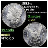 1882-s Morgan $1 Grades GEM Unc