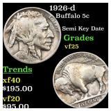 1926-d Buffalo 5c Grades vf+
