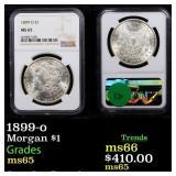 1899-o Morgan $1 Graded ms65