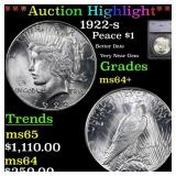 *Highlight* 1922-s Peace $1 Graded ms64+