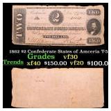 1862 $2 Confederate States of Amceria T-54 Grades