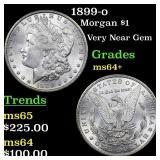 1899-o Morgan $1 Grades Choice+ Unc