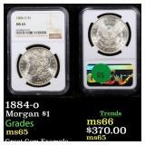 1884-o Morgan $1 Graded ms65