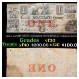 1858 $1 MACOMB COUNTY, Mt.CLEMENS, STATE MICHIGAN