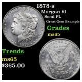 1878-s Morgan $1 Grades GEM Unc