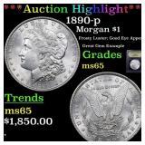 *Highlight* 1890-p Morgan $1 Graded GEM Unc