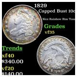 1829 Capped Bust 10c Grades vf++