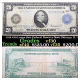 1914 $20 Large Size Federal Reserve Note Chicago,