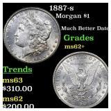 1887-s Morgan $1 Grades Select Unc
