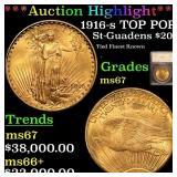 *Highlight* 1916-s TOP POP St-Guadens $20 Graded m