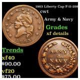 1863 Liberty Cap F-11-298a cwt Grades xf details