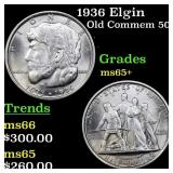 1936 Elgin Old Commem 50c Grades GEM+ Unc