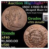 *Highlight* 1802 1/000 S-228 Draped Bust 1c Graded