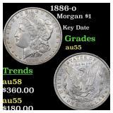 1886-o Morgan $1 Grades Choice AU
