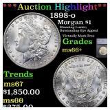 *Highlight* 1898-o Morgan $1 Graded ms66+