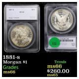 1881-s Morgan $1 Graded ms66