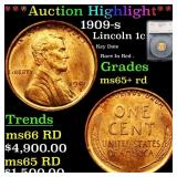 *Highlight* 1909-s Lincoln 1c Graded ms65+ rd
